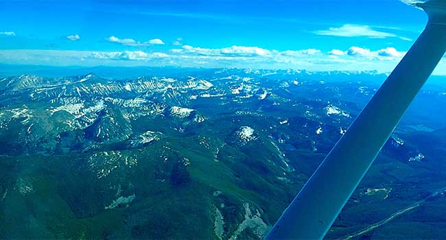 Views Of The Bridgers From Above Airplane Tours